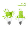 power saving green two stickers 2001 01 vector image