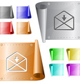 mail down arrow vector image