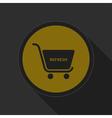 dark gray and yellow icon shopping cart refresh vector image