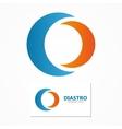 Abstract semicircle logo vector image