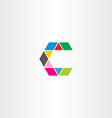 letter c sign symbol icon logotype colorful logo vector image