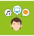 Man design Media icon Flat vector image
