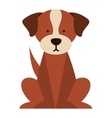 cute dog isolated icon design vector image