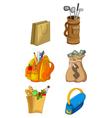 cute house equipment cartoon vector image vector image