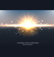 abstract shining background design with sunrise vector image