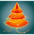 orange luminous christmas tree vector image
