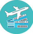 Traveling Ticket booking concept Flat design Icon vector image