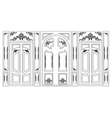 Wainscoting Decorative Damask frames vector image