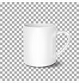white cup on transparent background drink cup vector image