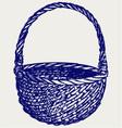 Empty wicker basket vector image vector image