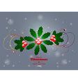 Christmas flourish over glowing background vector image