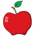 Cartoon Red Apple vector image vector image