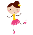 Cute Roller Skating Girl isolated on white vector image vector image