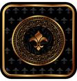 royal golden frame for design - vector image vector image