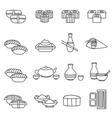 Sushi Line Set vector image