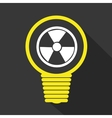 Nuclear sign on bulb icon vector image
