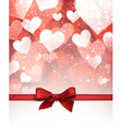 Valentine background with bow vector image