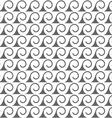 Seamless pattern of stylized waves vector image vector image