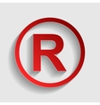 Registered Trademark sign vector image