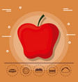 apple for family summer picnic vector image