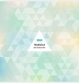 blue green abstract triangle pattern background vector image