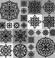 circular ornament set vector image