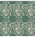 Damask luxurious floral ornament pattern vector image