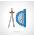 Drawing tools flat color icon vector image