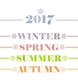 Idyllic four seasons text logo set Winter Spring vector image