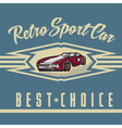 retro sport car old vintage poster vector image
