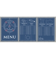 template fish menu on wood background vector image