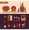 Wine design elements vector image