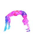 decorative colorful yoga pose vector image
