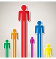 symbols of people vector image vector image