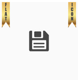 Magnetic floppy disc icon for computer vector image