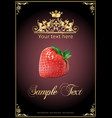 chocolate strawberry realistic vector image vector image