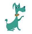 green dog cartoon vector image