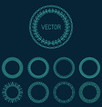 outline badges vector image vector image