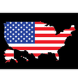 USA map outline with flag vector image vector image