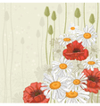 hand drawn flowers background vector image