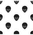 Alien icon in black style isolated on white vector image