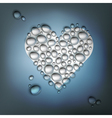 heart shaped water drops vector image
