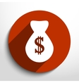 money bag web flat icon vector image