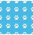 Paw print straight pattern vector image