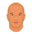 vin diesel face icon in flat style vector image