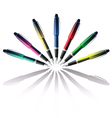 color pen vector image vector image