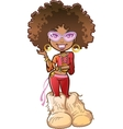 Funky Afro Girl vector image vector image