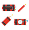 dynamite bomb icons set vector image