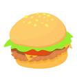 burger icon cartoon style vector image