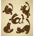 cats symbols vector image